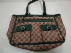 RRP £1350 Gucci Abbey Pockets Tote Beige/Dark Shoulder Bag (Aao5014) Grade A (Appraisals Available