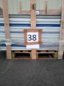 Combined RRP £2590 Pallet To Contain 288 Gardenia Black Out Blind Blue 142X180Cm