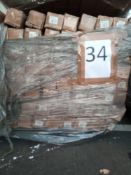 Combined RRP £4410 Pallet To Contain 315 Gold Curtain Pole 200Cm Ball Finial All Grade A Slow Moving