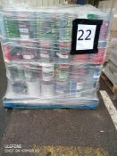 Pallet 22 Combined RRP £3600 Pallet To Contain 144 Tins Of 5Ltr Assorted Paint Selection Of Brands D