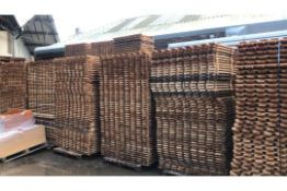 RRP £10 Each. Approx. 65 Open Slated Timber Decks 1340Mm X 800Mm X 22Mm. Perfect For Pallet