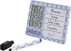 RRP £130 Lot To Contain 10 Brand New Boxed Great British Bake Off Multi Timers With Whiteboard Marke
