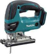 Combined RRP £170 Lot To Contain Two Boxed Makita Cordless Jig Saw and Boxed Stanley Chisel Set