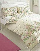 Combined RRP £120 Lot To Contain Two Bagged Vantona Home Country Cottage Garden Flannelette Double B