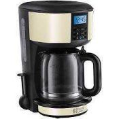 Combined RRP £120 Lot To Contain Boxed Moulinex Coffee Machine & Russell Hobbs Legacy Cream Coffee