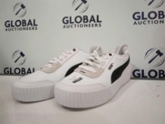 Combined RRP £120 Unboxed Puma Softfoam Optimal Comfort Trainers In White & Triple Black Adidas In S