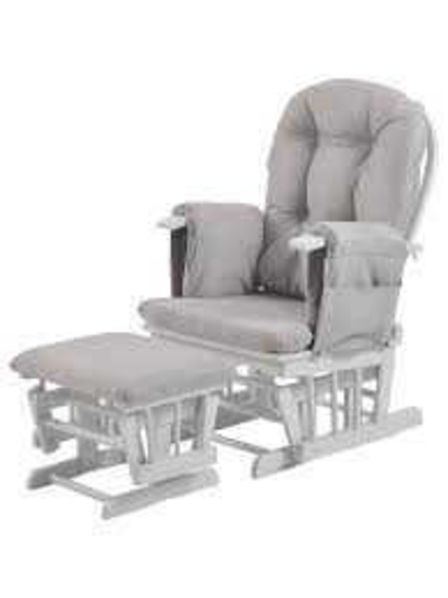 RRP £200 Unboxed Kub Haywood Glider Nursing Chair (Stool Only)