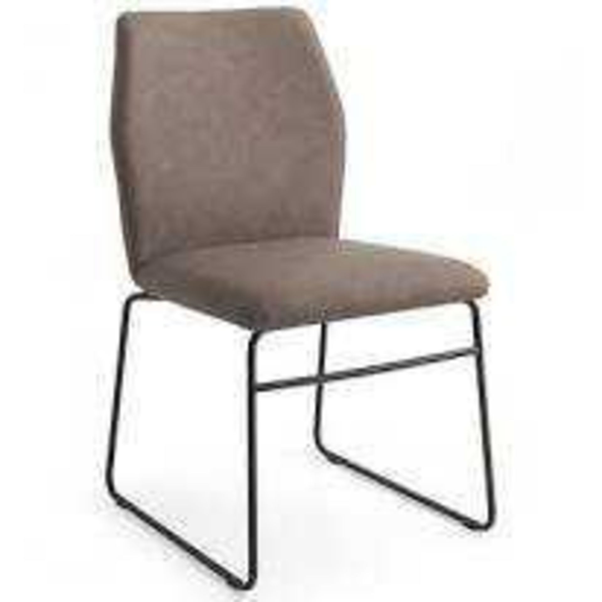 Combined RRP £200 Lot To Contain 2 Unboxed Brown Fabric Chairs