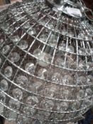 RRP £180 Unboxed Debenhams Crystal Frame Ceiling Light
