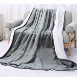 Combined RRP £150 Lot To Contain Two Unbagged Cozee Home Assorted Faux Fur Throws & Heated Shoulder