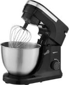 RRP £110 Boxed Grade A, Tested And Working Black Stand Mixer
