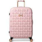RRP £220 Unboxed John Lewis Ted Baker 4 Wheel Bow Style Suitcase In Pink.