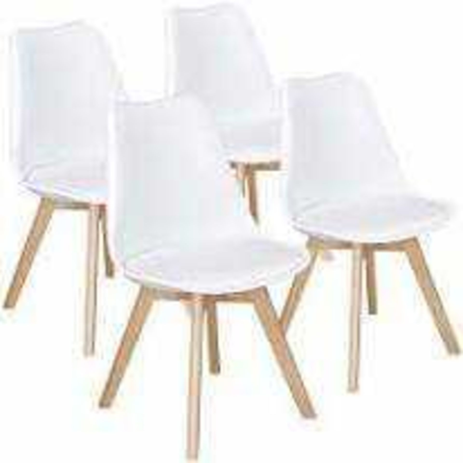 Combined RRP £120 Lot To Contain Two Boxed Jamarion Dining Chairs Colour White