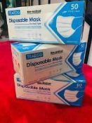 RRP £200 Boxed Teaegg Disposable Face Masks 50 Pack
