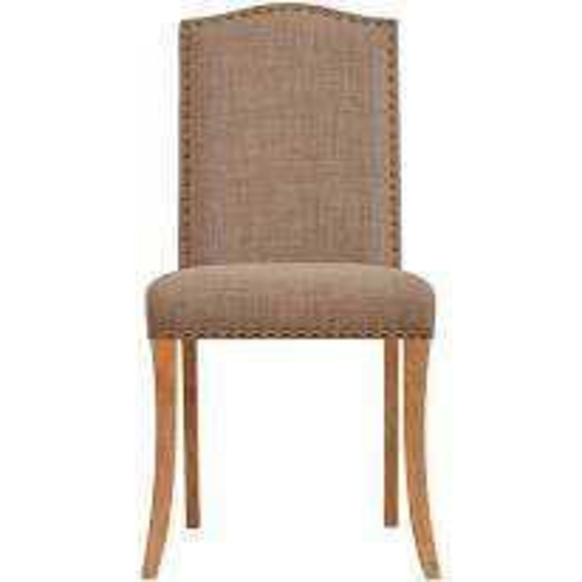 RRP £180 Boxed Two Evesham Dining Chair In Biege