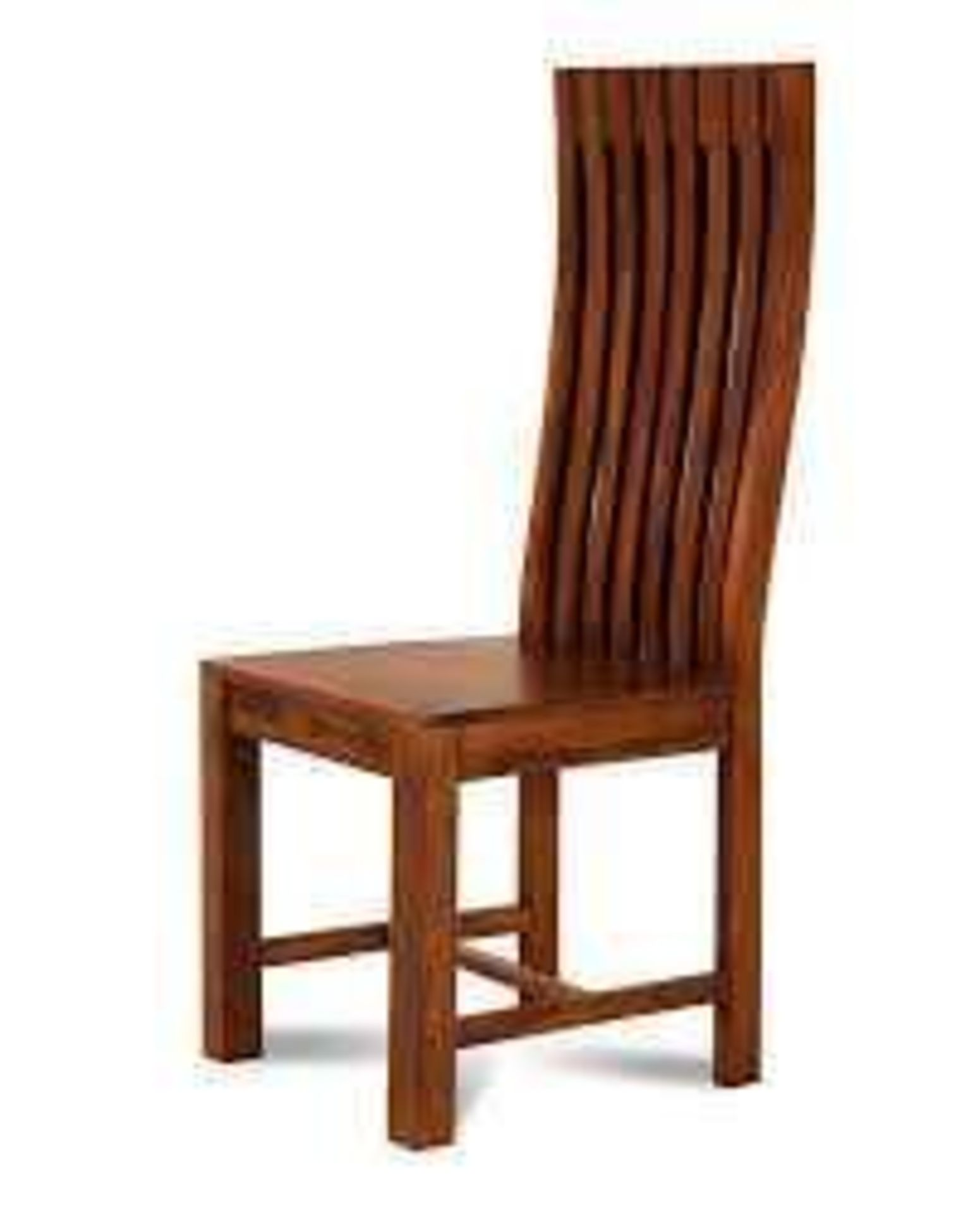 RRP £120 Boxed Solid Wood Dining Chairs Set Of 2