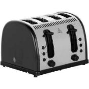 Combined RRP £175 Lot To Contain Two Unboxed 4 Sliced Designer Toasters