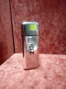 RRP £65 Unboxed 100Ml Tester Bottle Of Carolina Herrera 212 Vip Men Eau De Toilette Spray Ex-Display