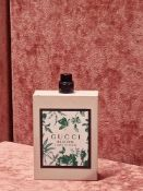 RRP £75 Unboxed 100Ml Tester Bottle Of Gucci Bloom Acqua Di Fiori Edt Spray Ex Display