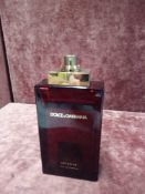 RRP £80 Unboxed 100Ml Tester Bottle Of Dolce & Gabbana Intense Eau De Parfum Ex-Display