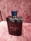 RRP £75 Unboxed 100Ml Tester Bottle Of Jimmy Choo Man Intense Eau De Toilette Ex-Display