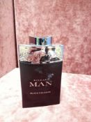 RRP £90 Unboxed 100Ml Tester Bottle Of Bvlgari Man Black Cologne Edt Spray Ex-Display