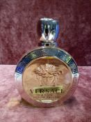 RRP £80 Unboxed 100Ml Tester Bottle Of Versace Eros Pour Femme Eau De Toilette Ex Display