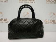 RRP £2350 Chanel Small Sports Line Boston Black Handbag (Aao7705) Grade A