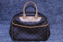 RRP £1,300 Louis Vuitton Deauville Handbag, Brown Monogram Coated Canvas 35x26x14cm (Production Code