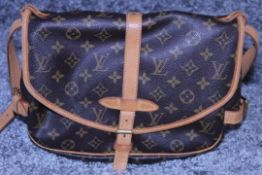 RRP £2,000 Louis Vuitton Palermo Handbag, Brown Monogram Coated Canvas, Vachetta Handles, 30x26x16cm