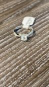 RRP £5,250 All 18Ct White Gold Diamond Solitaire Ring Comprising Of A Central Brilliant Cut