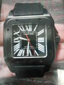 RRP £5000 Boxed 2016 Cartier Black Watch With Papers (Appraisals Available Upon Request) (Images Are