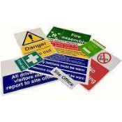Combined RRP £1000 Pallet To Contain Approximately 1000 Assorted Signs For Business ,To Include