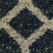 RRP £270 Bagged And Rolled Admiral Navy And Light Grey Hexagon Carpet 4M X 2.63M (097145)