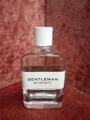 RRP £70 Unboxed 100Ml Tester Bottle Of Givenchy Gentleman Eau De Toilette Spray Ex-Display