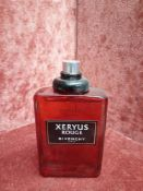 RRP £70 Unboxed 100Ml Tester Bottle Of Givenchy Xeryus Rouge Eau De Toilette Spray Ex-Display