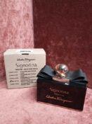 RRP £70 Boxed 100Ml Tester Bottle Of Salvatore Ferragamo Signorina Misteriosa Eau De Parfum Ex-Displ