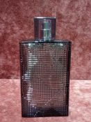 RRP £50 Unboxed 90 Ml Tester Bottle Of Burberry Brit Rhythm For Him Eau De Toilette Spray Ex-Display