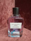 RRP £65 Unboxed 100Ml Tester Bottle Of Givenchy Gentlemen Only Eau De Toilette Ex-Display