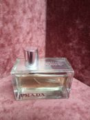 RRP £80 Unboxed 80Ml Tester Bottle Of Prada Amber Eau De Parfum Ex Display