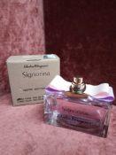 RRP £70 Boxed 100Ml Tester Bottle Of Salvatore Ferragamo Signorina Ribelle Eau De Parfum Ex-Display