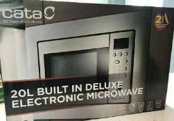 RRP £120 Boxed Cata 20L Built In Deluxe Electronic Microwave