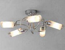Combined RRP £175 Lot To Contain Boxed John Lewis Limbo 5 Light Semi Flush And Unboxed Amphora Lamp