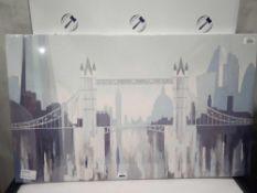 RRP £110 Sealed John Lewis Tower Bridge Greg Lang Canvas