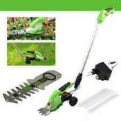 Combined RRP £180 Lot To Contain Boxed Greenworks 24V Battery Powered Lawn Mower And String Trimmer
