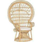 RRP £150 Boxed Innovators Rattan Style Chair