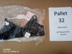 RRP £7120 Pallet To Contain 324 Brand New Tagged Debenhams Fashion Items 4 X Pink Heart Robe 25 X