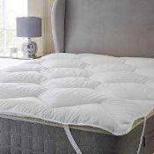 RRP £200 Lot To Contain 3 Bagged John Lewis Soft And Light Mattress Toppers In Sizes Double, King An
