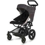 RRP £265 Boxed Micralite Fastfold Black Chassis And Hammock Seat Fast Folding Stroller (1457294)