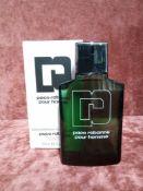 RRP £60 Boxed 100Ml Tester Bottle Of Paco Rabanne Pour Homme Eau De Toilette Spray